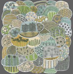 'terrarium archival print' from swallowfield mixed media by jennifer judd-mcgee