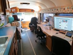 Work station in RV