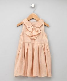 I love collars on little girl dresses.... they are so hard to find though  kids fashion and style.  girls clothing.  formal dress.  peach.