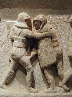 - Gladiator frieze, 2nd - 3rd century AD, from the necropolis at Kibyra, Burdur Museum ./tcc/