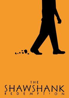 BROTHERTEDD.COM - Minimalist Saul Bass influenced movie posters by... Minimal Movie Posters, Minimal Poster, Cinema Posters, Movie Poster Art, Poster On, Die Verurteilten, Poster Minimalista, The Shawshank Redemption, Alternative Movie Posters