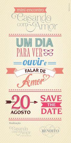 Save the Date: Mini encontro Casando com Amor