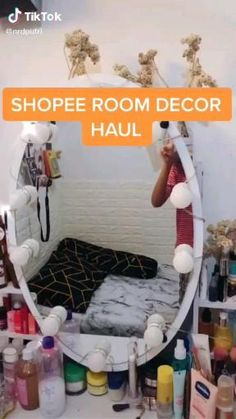 Diy Wall Decor For Bedroom, Cute Room Decor, Teen Room Decor, Diy Storage Sofa, Diy Room Decor Videos, Ideas Para Organizar, Aesthetic Room Decor, Cozy Room, Room Tour