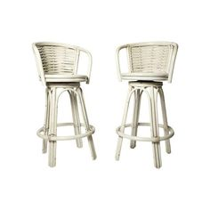 These rattan stools say just one thing: the beach