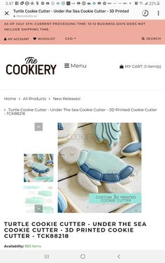 Turtle Cookies, 3d Printing, Prints, Impression 3d, Turtle Cookie Bars