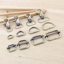 30pcs / lot 25mm Zinc aleación corchete de la langosta + anillo D + hebilla cuadrada primavera ganchos DIY del metal del bolso accesorio, freeshipping(China (Mainland))
