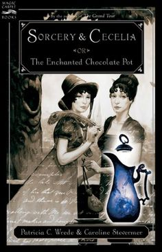 Sorcery And Cecelia Or The Enchanted Chocolate Pot (Turtleback School & Library Binding Edition) (Magic Carpet Books) by Patricia C. Wrede http://www.amazon.com/dp/1417635959/ref=cm_sw_r_pi_dp_V0xevb1DETR34