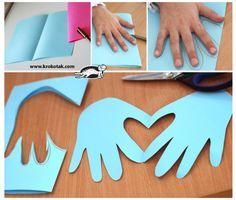 BRICOLAGE http://www.trucsetbricolages.com/un-bricolage-touchant-faire-avec-les-enfants-pour-la-saint-valentin/