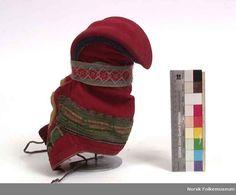 Nordic Sami horn hat from Polmak, Tana in Norway.