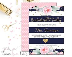 Navy and Pink Bachel