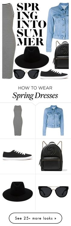 """""""Denim Style Once Again"""" by mikijxx on Polyvore featuring Topshop, Acne Studios, Gucci, Forever 21, rag & bone and Quay"""