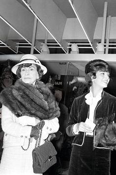 Chanel, carrying her 2.55 bag, attends the theater in Paris   - HarpersBAZAAR.com