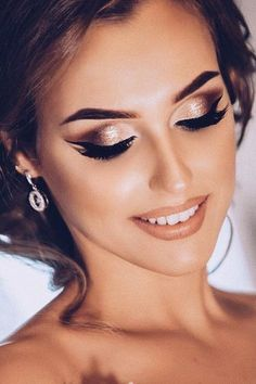 wedding makeup elegant bronze anngri photo