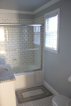 Retro Inspired Octagon And Dot Bathroom Floor Tile Work