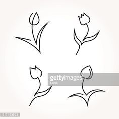 Afbeeldingsresultaat voor tulip line drawing abstract New Tattoos, Small Tattoos, I Tattoo, Tulip Drawing, Line Drawing, Tulip Tattoo, Flower Tattoos, Wire Crafts, Wire Art