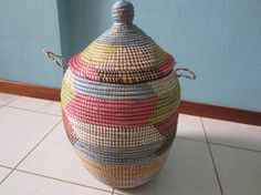 Round Storage Basket Wicker storage basket with by africanbaskets, $59.00