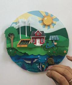 3d Paper Art, Paper Collage Art, Paper Crafts Origami, Paper Artwork, Paper Cut Out Art, Paper Cutting Art, Design Crafts, Design Art, Paper Art Design