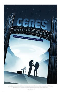 Ceres - NASA/JPL Travel Poster by Robert Partridge
