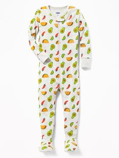 e1c0814df768f Taco Print Footed Sleeper for Toddler  amp  Baby Boys Pajamas