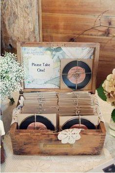 mix CD as a wedding favor / http://www.deerpearlflowers.com/cute-and-easy-wedding-favor-ideas/