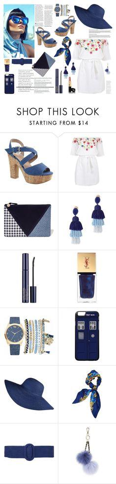 """Senza titolo #6402"" by waikiki24 ❤ liked on Polyvore featuring Pampelone, Clare V., Oscar de la Renta, Estée Lauder, Yves Saint Laurent, Mixit and Hermès"