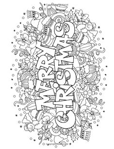 Christmas Coloring pages colouring adult detailed advanced printable Kleuren voor volwassenen coloriage pour adulte anti-stress kleurplaat voor volwassenen Line Art Black and White Santa Noel Peace Gift decoration Toy  Present Elf Ornament Candy Joy Carol Stocking Family Adult Coloring Book: Magic Christmas : for Relaxation Meditation Blessing (Volume 8): Cherina Kohey: 9781517098964: Amazon.com: Books