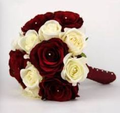 Dark red and ivory bouquet