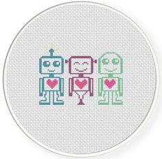 Robots Cross Stitch Pattern (pay $3.41)