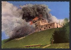 Berchtesgaden, Germany, September 1952, The blowing up of Hitler's house.