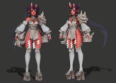 ART WAR | 3D | Oni Chef Girl | blair - Art Challenges / ART WAR 3D - Forums - Cubebrush