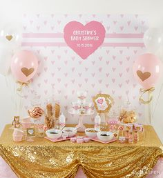 How to Throw the Cutest Pink and Gold Baby Shower - Kate Aspen Blog