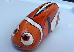 Finding Nemo FISH Dory Disney painted rocks by Holly N.