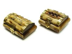 "Treasure Chest Mini Ring Trinket Bone Box 2.25"" x 2"" x 1.2"" $4.59 Antique Boxes, Treasure Chest, Small Gifts, Bones, Choices, Cufflinks, Antiques, Accessories, Style"