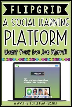 How to use Flipgrid Social Learning Platform in the Classroom. Learn how students can amplify their voice and collaborate with one another through a web of video! Download a free ebook about appsmashing with Flipgrid!