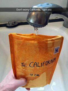 Don't worry California, I got you.
