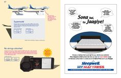 Mattress ad design by Sleepwell in Hello 6E Inflight Magazine (click here to advertise)
