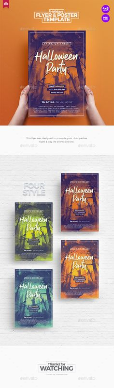 Halloween Party - Flyer Template by IntenseArtisan Halloween Party Flyer, Halloween Poster, Halloween Carnival, Halloween Design, Halloween Night, Halloween Make Up, Halloween Decorations, Weekender, Grunge