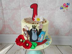 Little Mole with friends - Cake by Petra Kratka Friends Cake, Baby Cakes, Mole, Projects To Try, Birthday Cake, Cupcakes, Desserts, Children, Conch Fritters