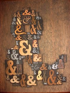 Letterpress Printers AMPERSAND Type Collage 11 x 13 by Typetiques