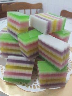 Maple Grace Garden 枫林温馨花园 : ~~ Rainbow Jelly Cake ❤ 彩虹燕菜蛋糕 ~~