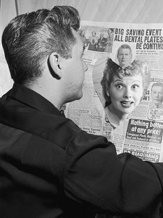 Lucille Ball and Desi Arnaz pictured at home, September 1950