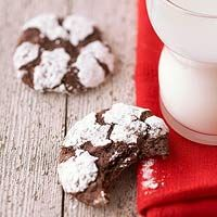 Chocolate Crinkles:  A sprinkling of sugar tops these simple-to-make chocolate cookies. Prep takes just 30 minutes, and each batch bakes for just eight minutes.    From: bhg.com