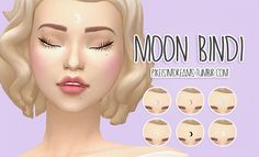 Pixelsimdreams - Moon Bindi Made some cute little moon bindis. :D -NOTE- 6 Pastel Colors Custom Thumbnail Enabled for Male & Female *These are located under the face paint category.*