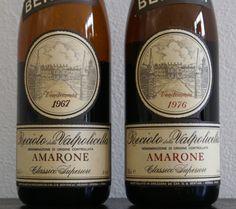 Bertani Recioto della Valpolicella Amarone Classico Superiore 1976 + 1967