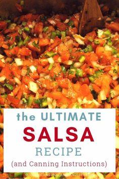 salsa recipe for canning * salsa recipe ; salsa recipe with fresh tomatoes ; salsa recipe for canning ; salsa recipe with fresh tomatoes mexican ; salsa recipe with fresh tomatoes easy Fresh Salsa Recipe, Tomato Salsa Recipe, Fresh Tomato Recipes, Fresh Tomato Salsa, Low Sodium Salsa Recipe, Salsa Recipe Easy, Salsa Canning Recipes, Sauces, Dips