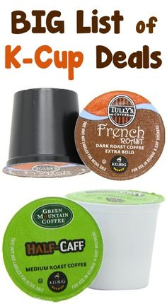 BIG List of K-Cup Deals ~ as low as 44c each + FREE Shipping! #kcups