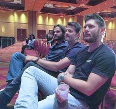 Supernatural | Jensen Ackles (Dean), Misha Collins (Castiel) and Jared Padalecki (Sam)