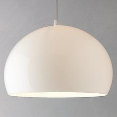Buy Kartell FLY Ceiling Light, White online at JohnLewis.com - John Lewis Gift List