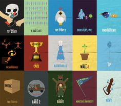 Pixar love. Man, those are cool movie posters. They even have ones for Monster University and Newt. Wow!