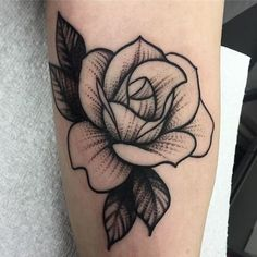 A rose from yesterdayYou can find Traditional rose tattoos and more on our website.A rose from yesterday Mini Tattoos, Tattoos 3d, Love Tattoos, Beautiful Tattoos, Body Art Tattoos, Small Tattoos, Tattoos For Women, Tattoo Ink, Tatoos